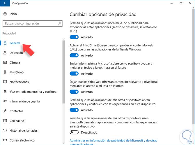 98f43b53140 Cómo configurar Privacidad en Windows 10 - Solvetic