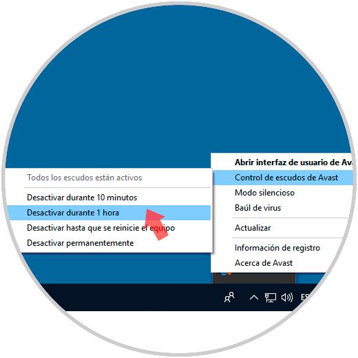 desactivar antivirus windows 10