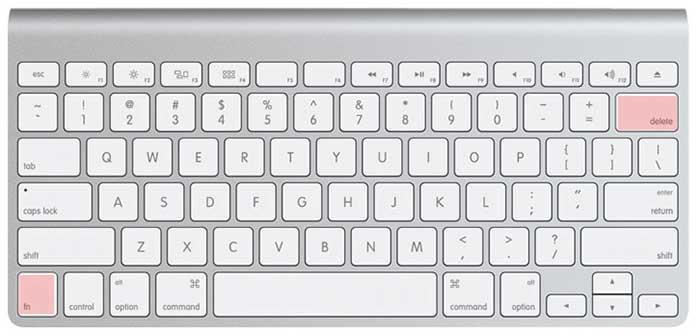 cual es la letra suprimir en mac