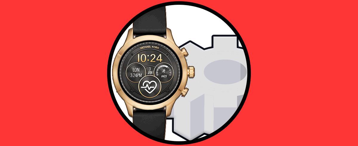 9bfe1c024100 Cómo configurar reloj smartwatch Michael Kors - Solvetic