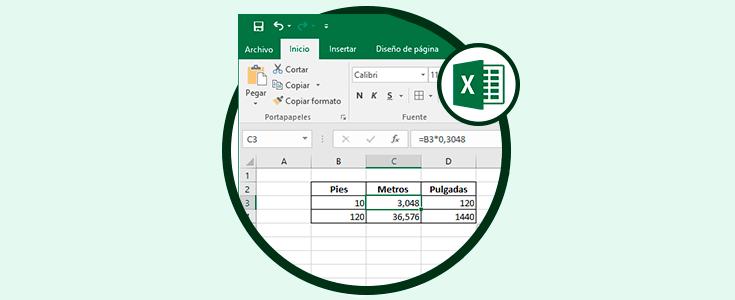 Cómo Convertir Pies A Pulgadas O Metros En Excel 2016 Solvetic