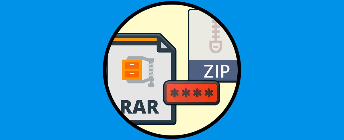 Cómo Recuperar La Contraseña De Archivos Rar O Zip Solvetic